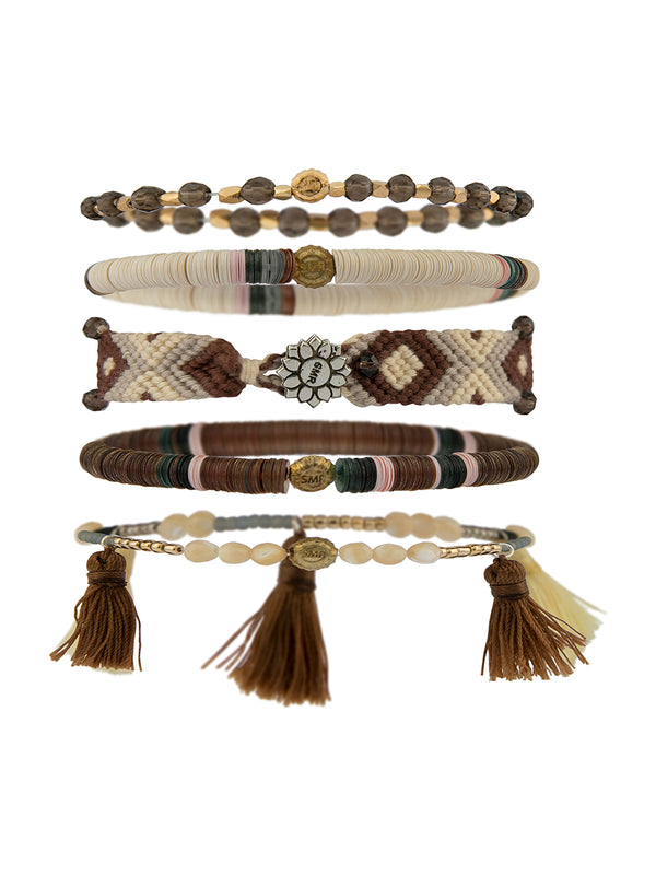 LITTLE JOE WOMAN X SUN MOON RAIN BRACELETS - SAND PLAY