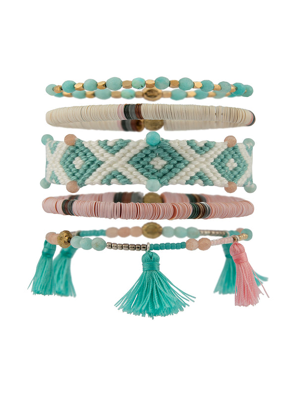LITTLE JOE WOMAN X SUN MOON RAIN BRACELETS - OCEAN CALLS