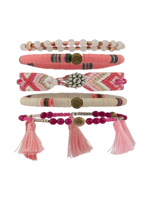 LITTLE JOE WOMAN X SUN MOON RAIN BRACELETS - LOVE IS THE ANSWER