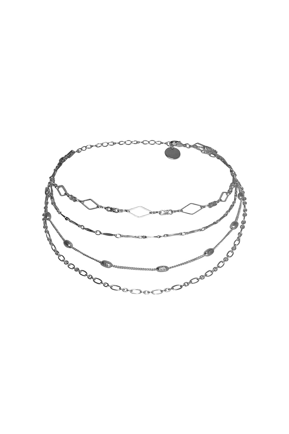 BROOKLYN CHOKER NECKLACE IN SILVER
