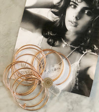 Rose Gold Plated Bangles