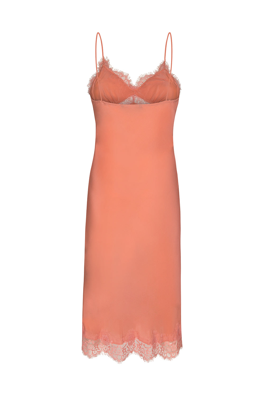 HERE IT COMES SILK SLIP DRESS