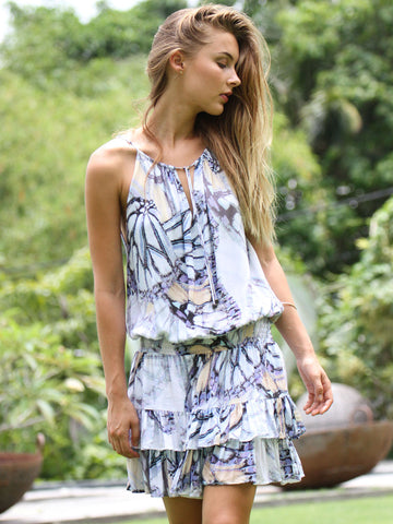 HIGH TIDE BUTTERFLY PRINT DRESS
