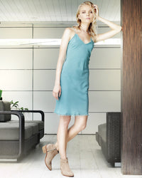 HEAD SPINNER SILK SLIP DRESS
