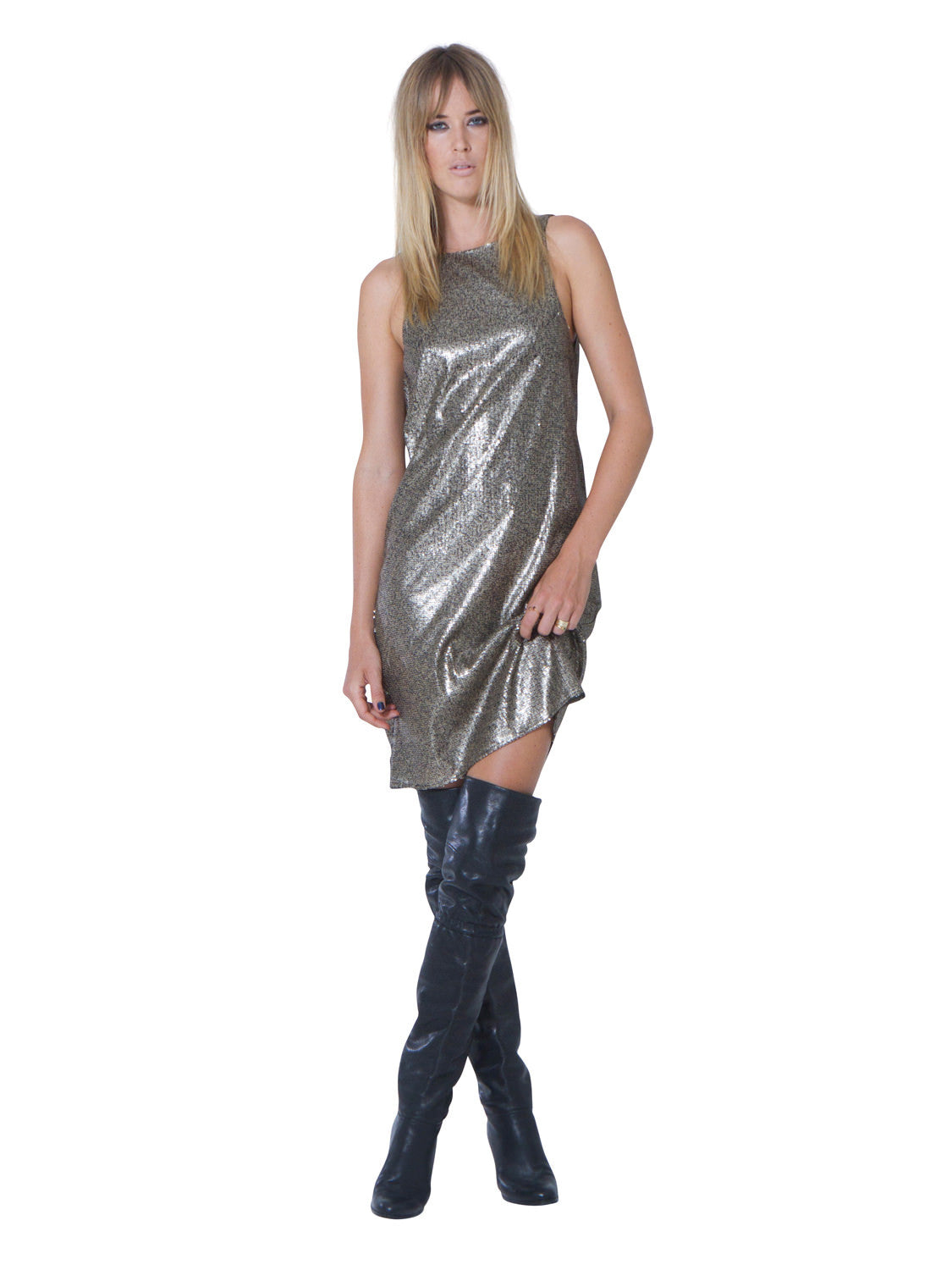 CLOSE TO HEAVEN SEQUIN DRESS - Little Joe Woman by Gail Elliott E-Boutique  - 1