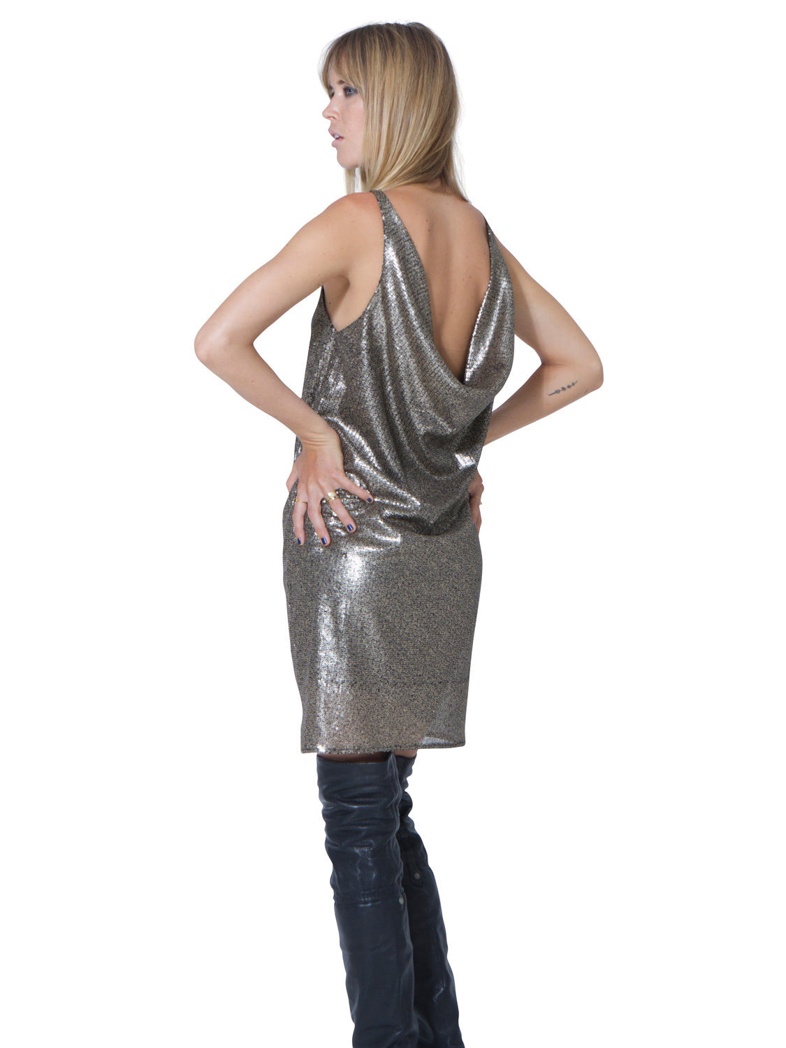 CLOSE TO HEAVEN SEQUIN DRESS - Little Joe Woman by Gail Elliott E-Boutique  - 3
