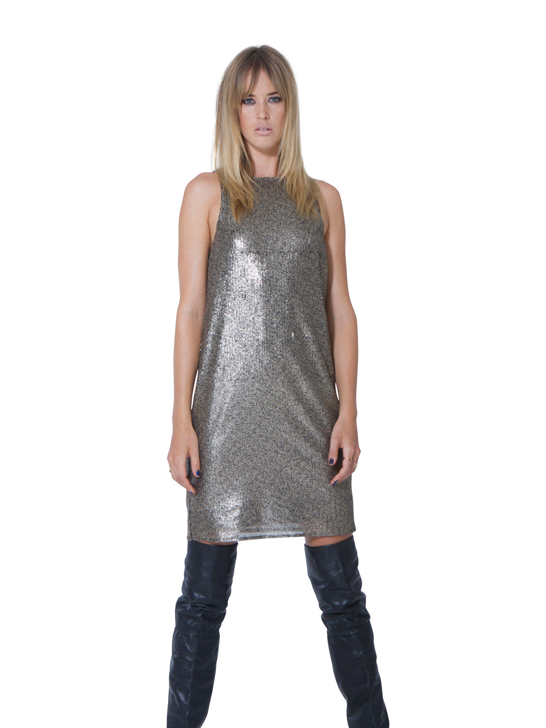 CLOSE TO HEAVEN SEQUIN DRESS - Little Joe Woman by Gail Elliott E-Boutique  - 4