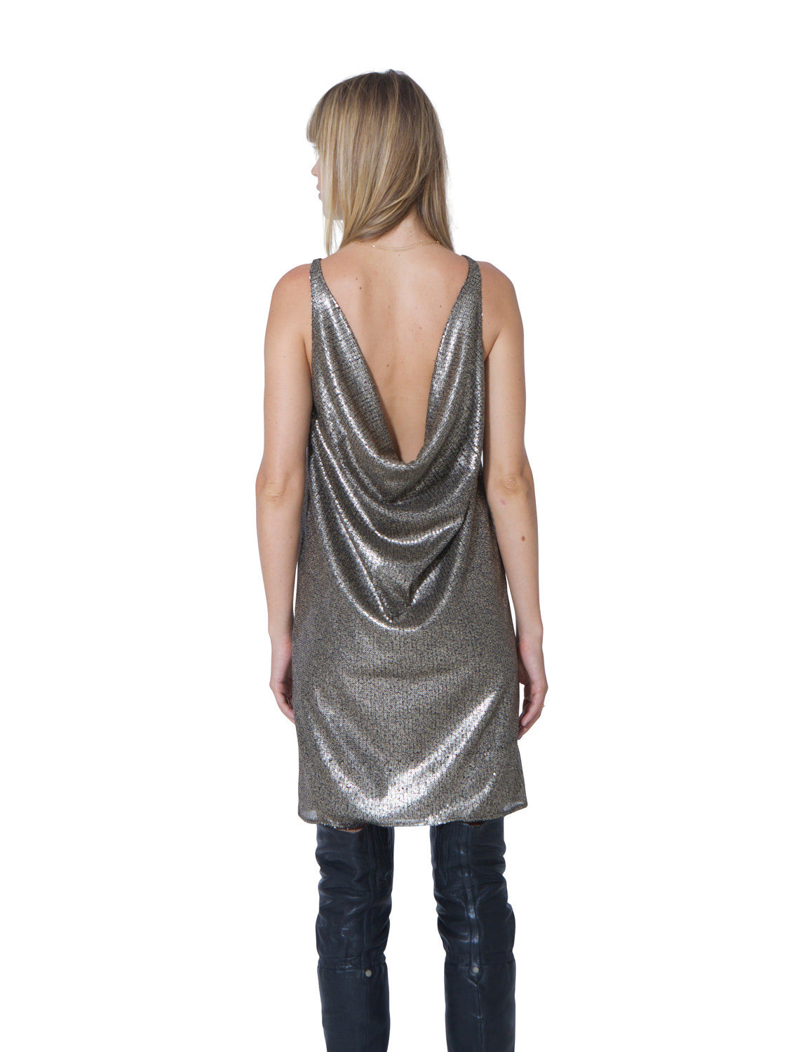 CLOSE TO HEAVEN SEQUIN DRESS - Little Joe Woman by Gail Elliott E-Boutique  - 5