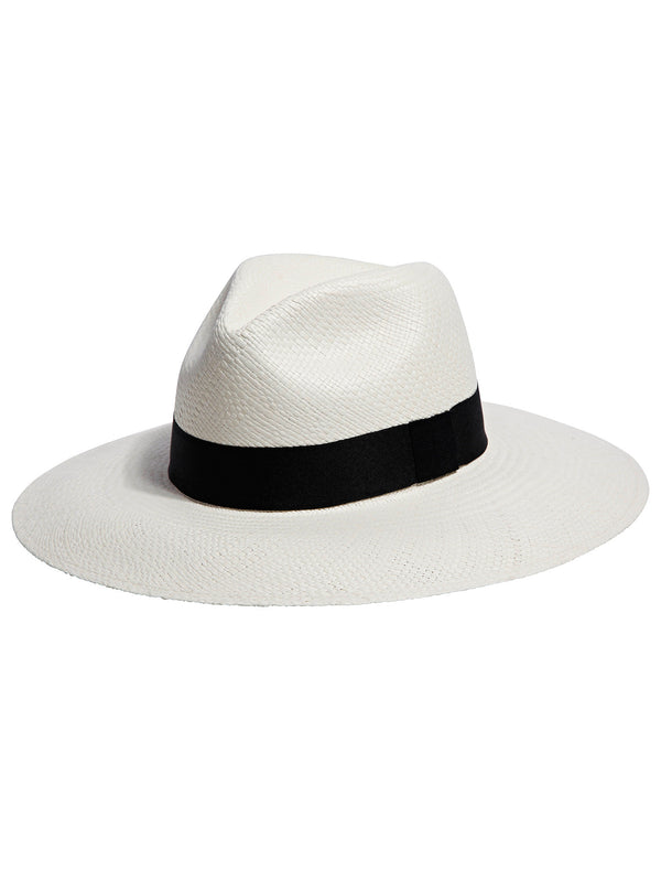 Wide Brim Panama Hat / Off White - Little Joe Woman by Gail Elliott E-Boutique  - 1