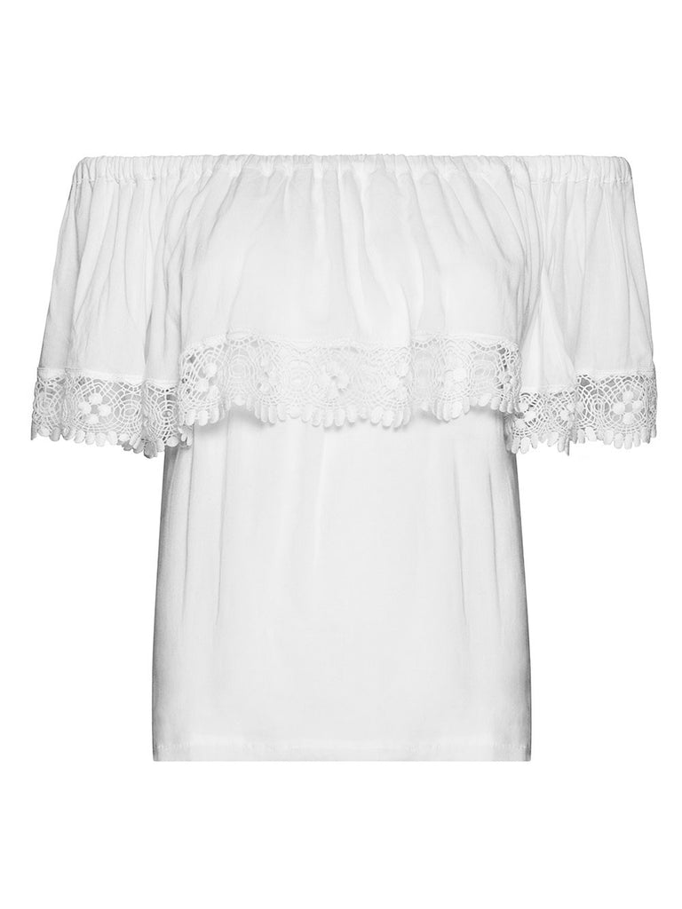 BLOSSOM OFF-THE-SHOULDER BLOUSE - Little Joe Woman by Gail Elliott E-Boutique  - 1