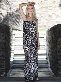 I'M A STAR LEOPARD PRINT DRESS - Little Joe Woman by Gail Elliott E-Boutique  - 2