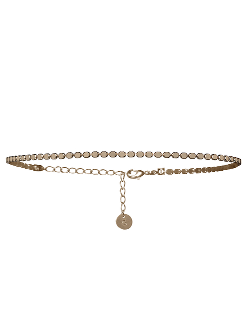 MOONLIGHT CHOKER NECKLACE IN GOLD