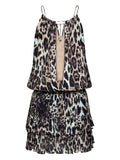 HIGH TIDE LEOPARD PRINT DRESS - Little Joe Woman by Gail Elliott E-Boutique  - 4