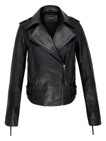 NEVADA SPRINGS LEATHER BIKER JACKET