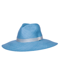 Wide Brim Panama Hat - BLUE