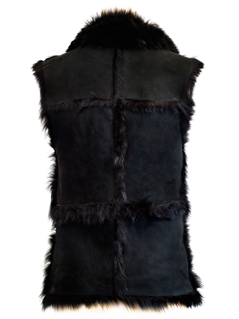 Hot & Bothered Reversible Shearling Gilet - Little Joe Woman by Gail Elliott E-Boutique  - 4