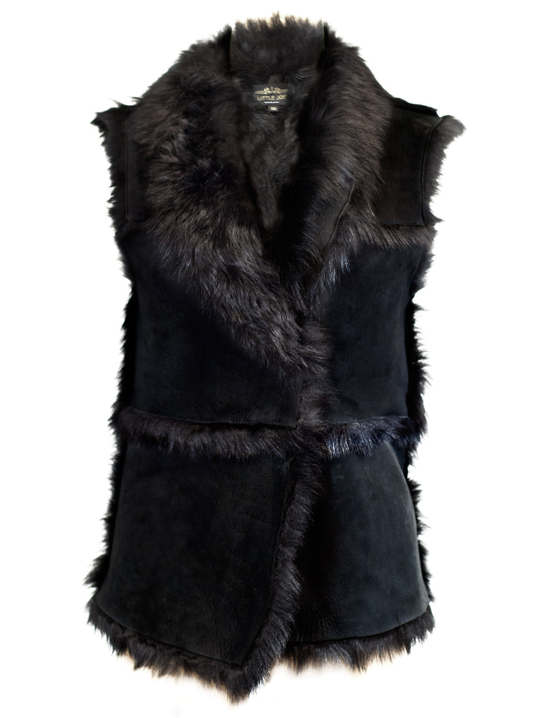 Hot & Bothered Reversible Shearling Gilet - Little Joe Woman by Gail Elliott E-Boutique  - 1