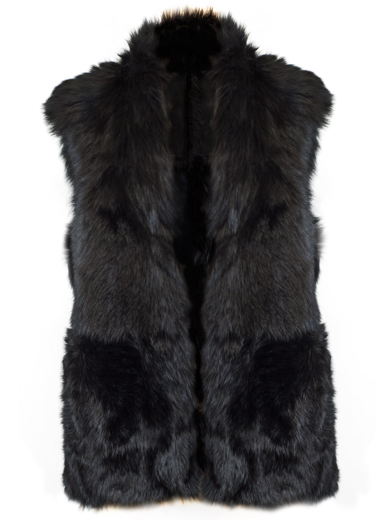 Hot & Bothered Reversible Shearling Gilet - Little Joe Woman by Gail Elliott E-Boutique  - 3