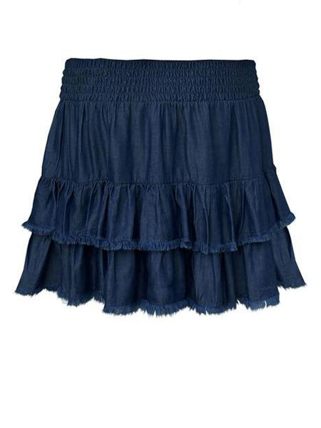 PARTY UP DARK DENIM SKIRT