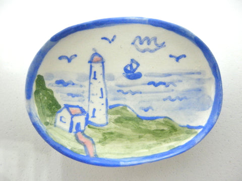 Miniature Country Style dish - Lighthouse