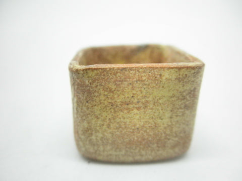 Miniature ceramic rustic square planter