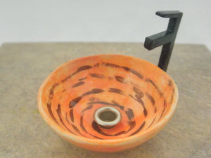 Vessel sink 1/12th orange