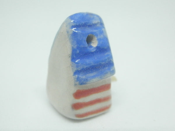 Miniature patriotic ceramic bird house