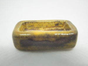 Miniature ceramic small rectangular planter - good for Ikebana