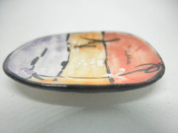 Miniature ceramic plate with blossom