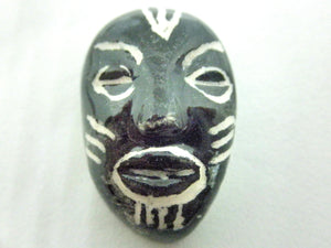 Miniature African art mask black