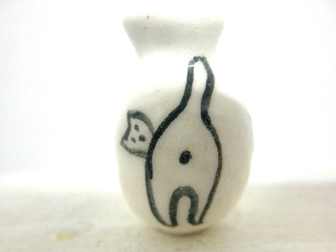 Miniature ceramic pink piggy bank