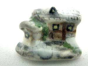English ceramic cottage with side building