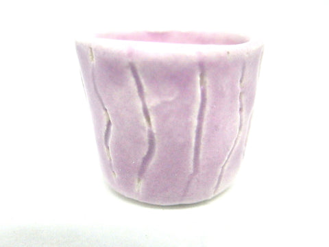 Miniature ceramic planter - Carved lilac