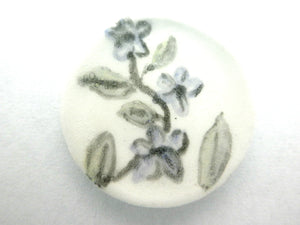 Miniature ceramic plate - blue flowers