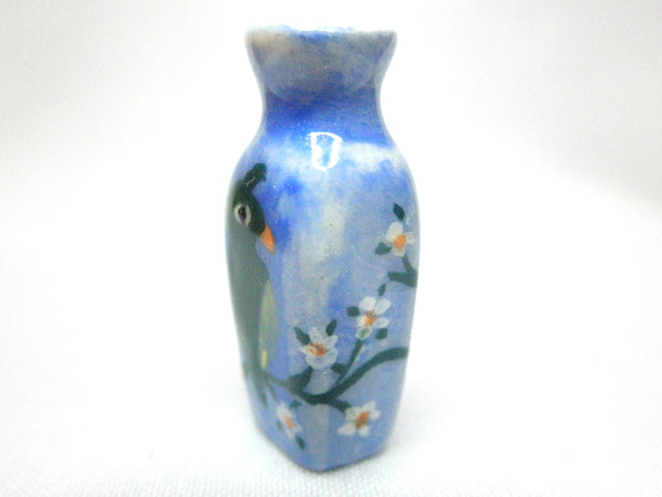 Miniature Original ceramic vase parrot