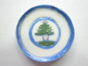 Country Style plate - Christmas tree