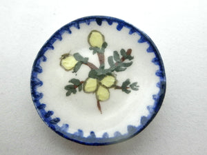 Miniature ceramic plate - Tuscan Lemon