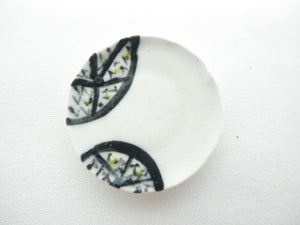 Miniature ceramic plate - lemon slices