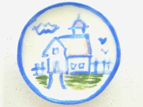 Country Style plate - Barn