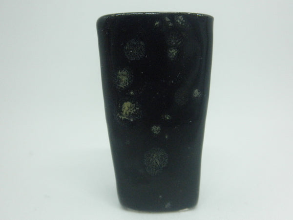 Miniature modern tall planter - black iris