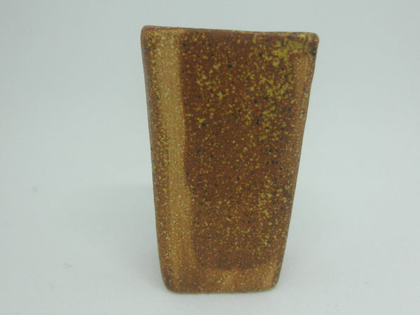 Miniature ceramic modern tall planter - Brown clove