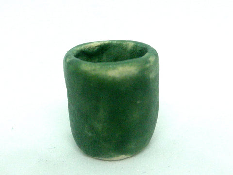 Miniature ceramic green planter