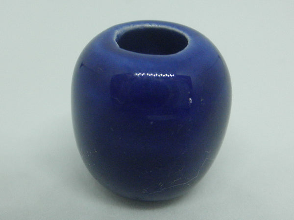 Dollhouse Miniature vase royal blue