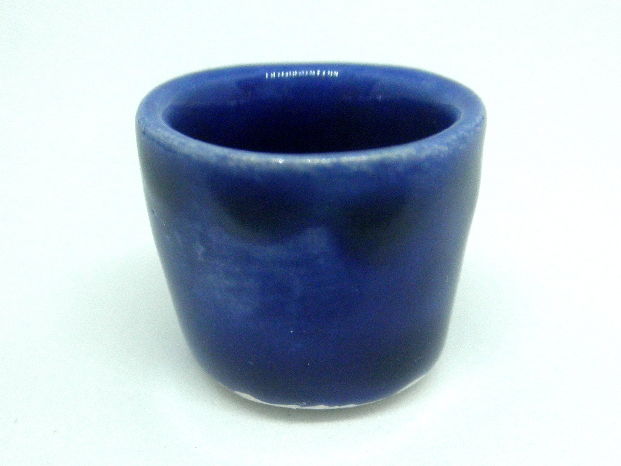 Miniature ceramic planter - royal blue