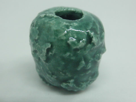 Dollhouse Miniature vase textured green