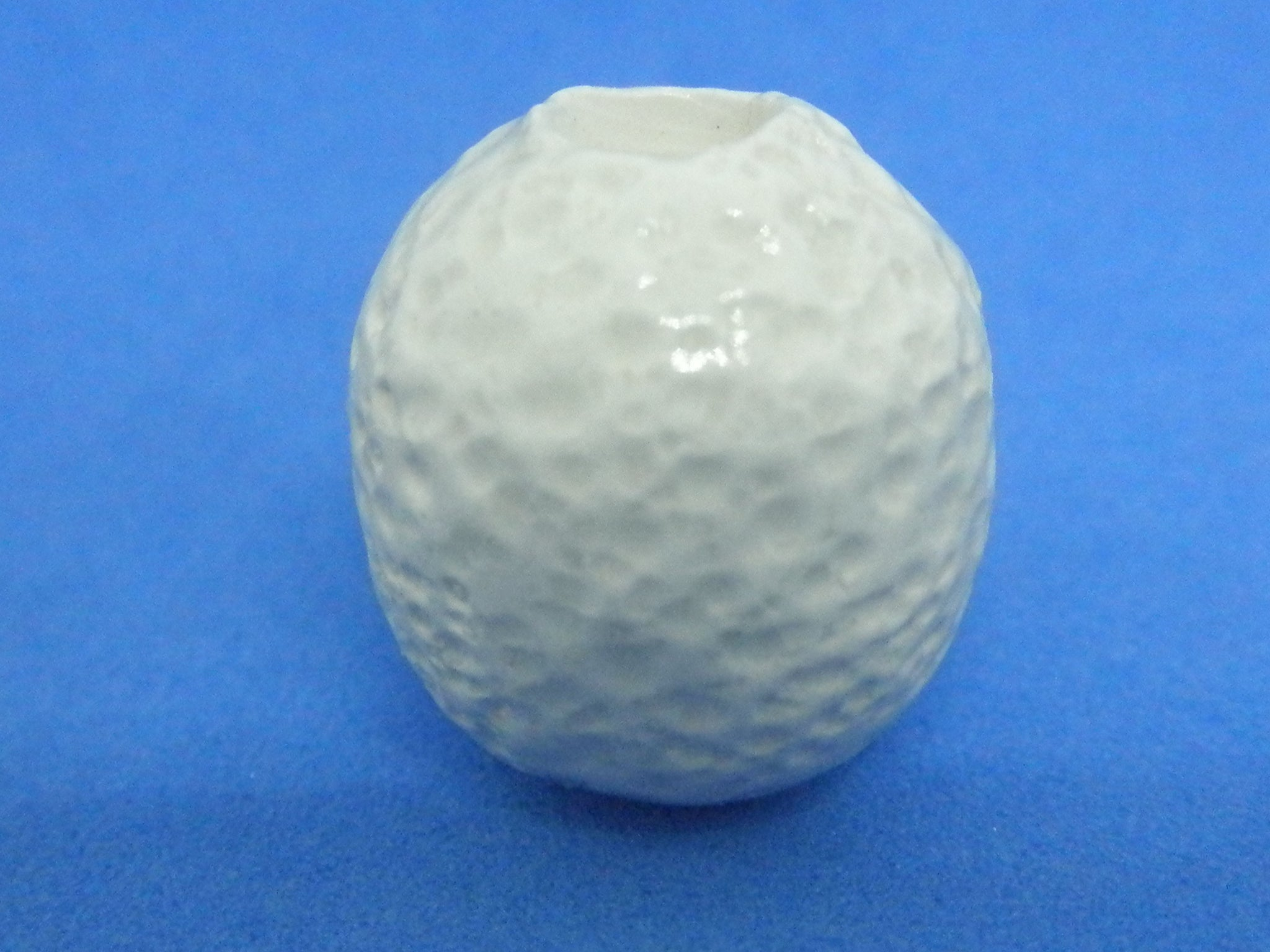 Dollhouse Miniature vase textured white