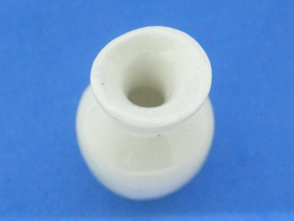 Miniature ceramic vase white