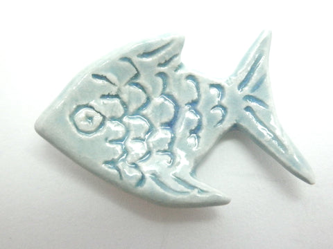 Miniature fish plate - light turquoise