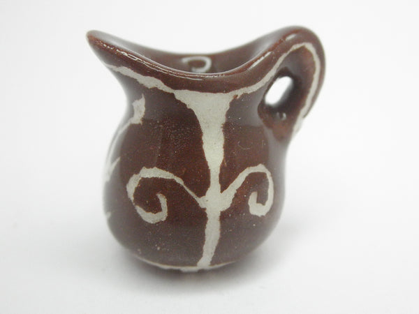 Miniature 1/12th carved pitcher brown