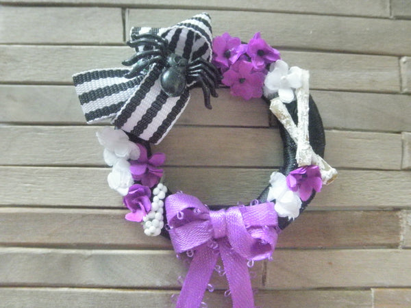 Miniature Halloween wreath - Purple